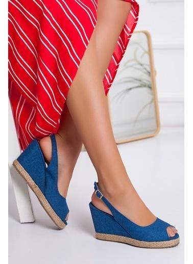 Dilimler Ayakkabı Sandalet Mavi